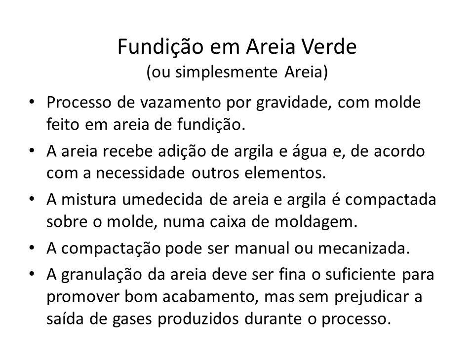 Fundição em Areia - Modelos Os modelos têm o formato e o tamanho ligeiramente maior da peça, por causa da dilatação térmica e usinagens posteriores.