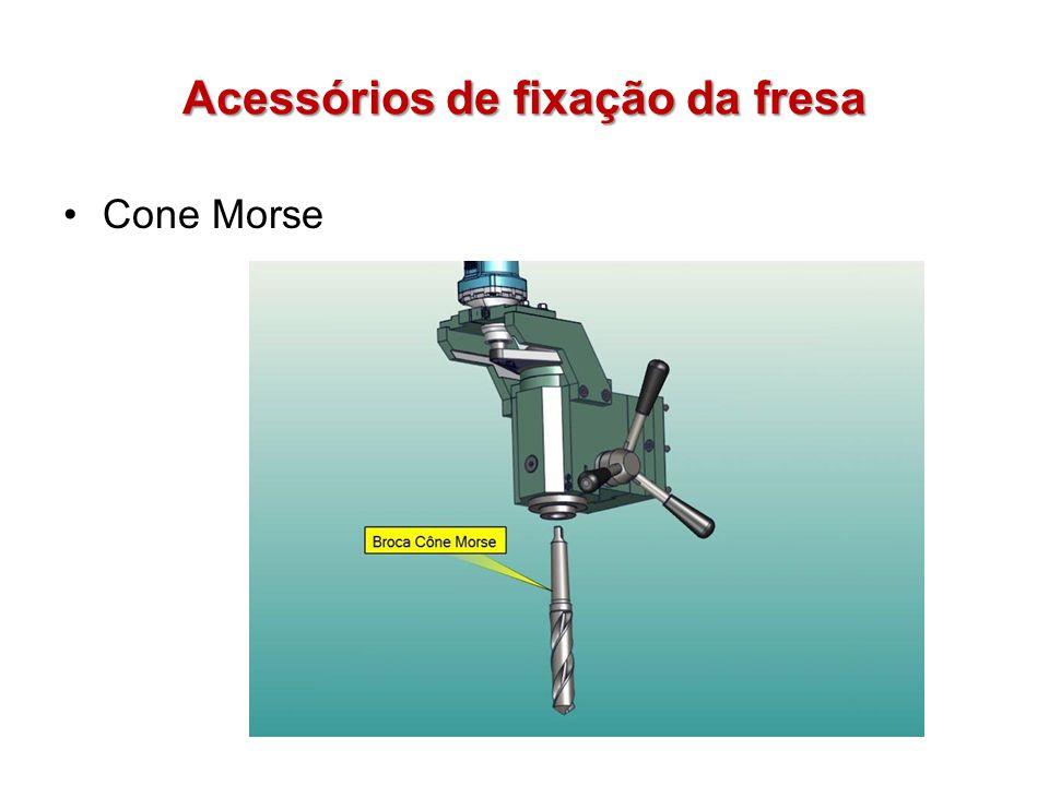 Acessórios de fixação da fresa Cone Morse