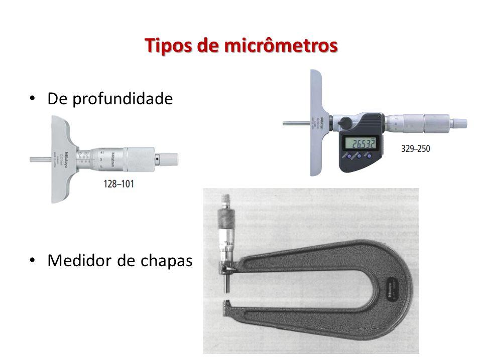 Tipos de micrômetros De profundidade Medidor de chapas