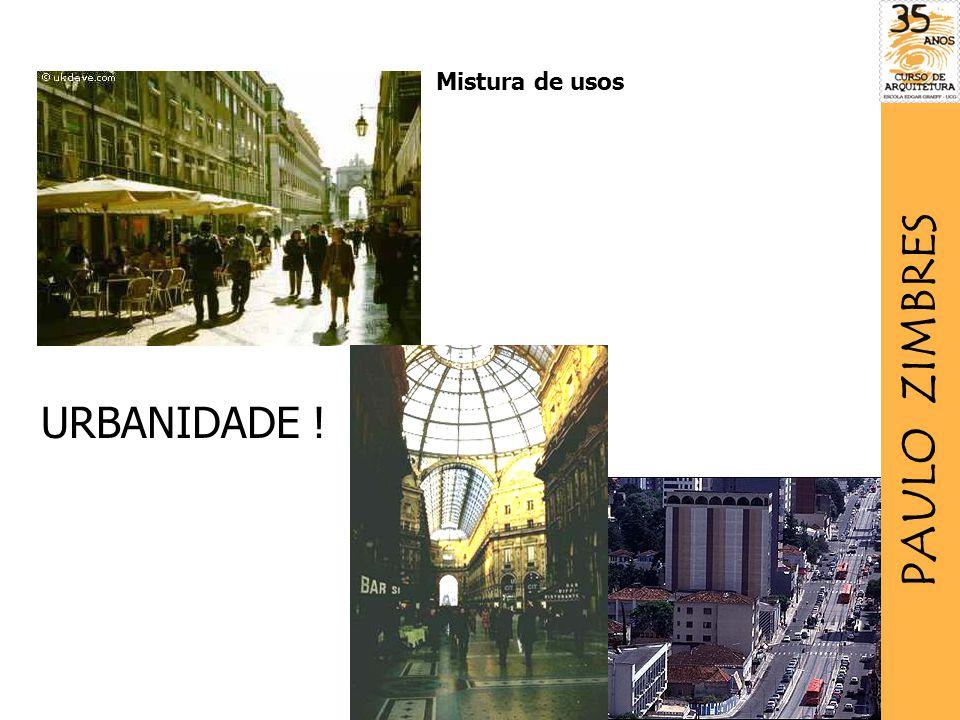 Mistura de usos URBANIDADE ! PAULO ZIMBRES