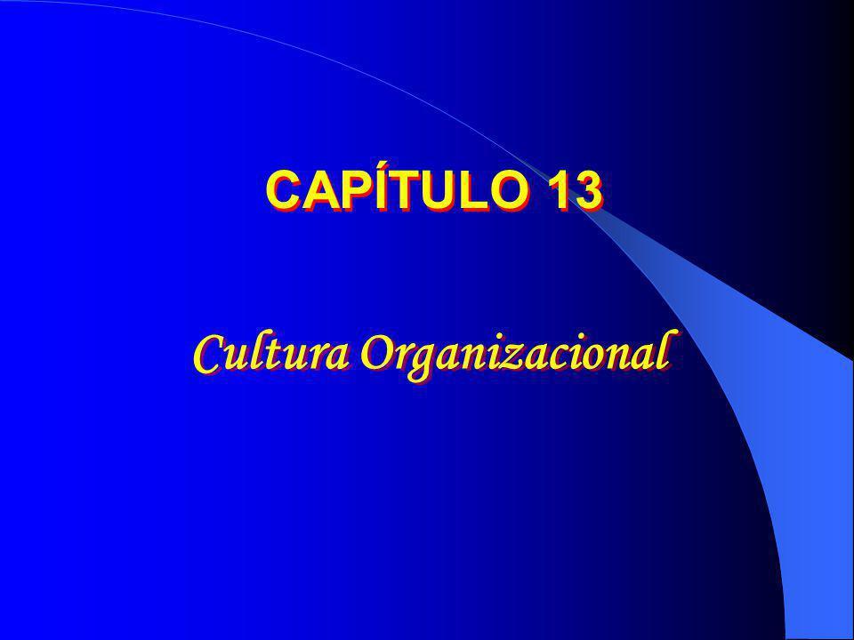 Cultura Organizacional CAPÍTULO 13