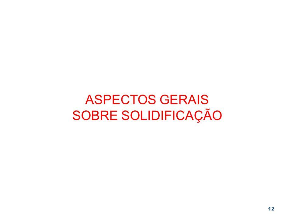 12 ASPECTOS GERAIS SOBRE SOLIDIFICAÇÃO