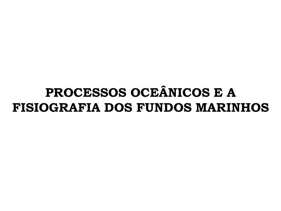 PROCESSOS RESPONSÁVEIS PELA DISTRIBUIÇÃO DE SEDIMENTOS MARINHOS # Circulação oceânica – importante mecanismo de controle e distribuição dos fluxos de partículas sedimentares que recobrem os fundos oceânicos.