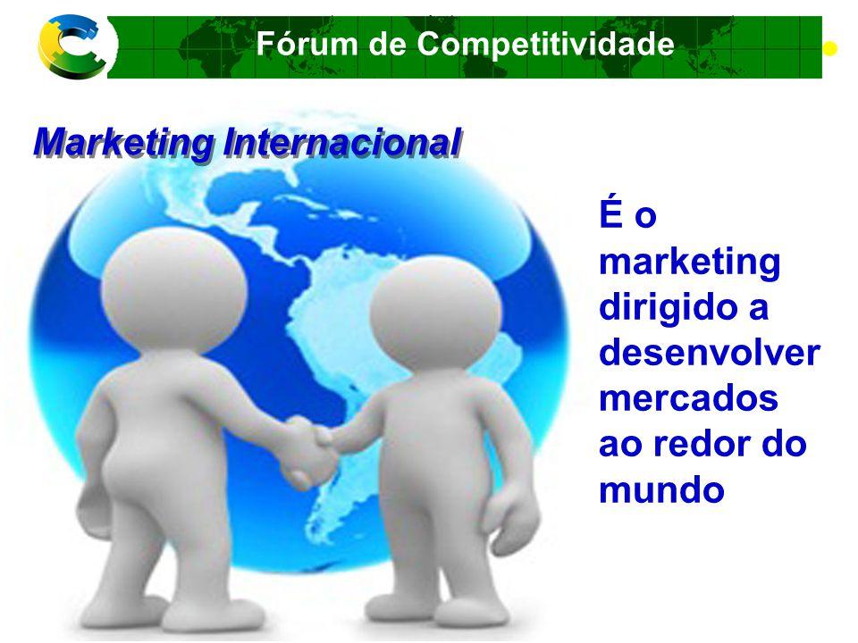 Fórum de Competitividade A crescente interdependência entre os países, refletida nos crescentes fluxos internacionais de bens, mercadorias, serviços, capital e conhecimento.