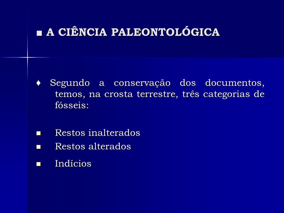 A CIÊNCIA PALEONTOLÓGICA A CIÊNCIA PALEONTOLÓGICA 1.