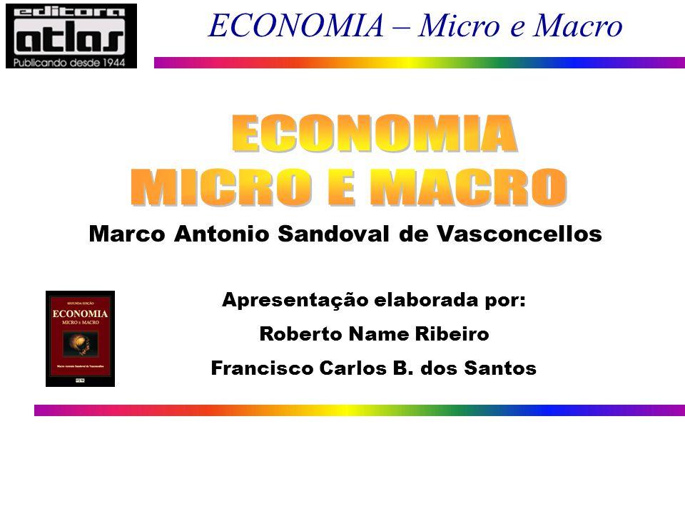 ECONOMIA – Micro e Macro 1 Marco Antonio Sandoval de Vasconcellos Apresentação elaborada por: Roberto Name Ribeiro Francisco Carlos B. dos Santos