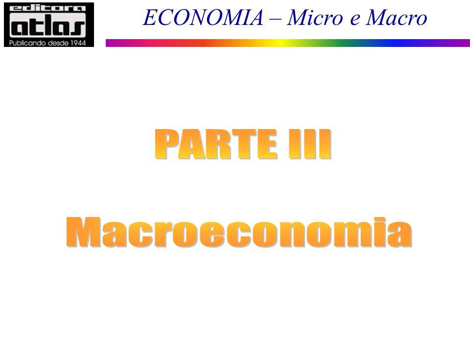 ECONOMIA – Micro e Macro 83 Teoria Quantitativa da Moeda (TQM) – Modelo Clássico A equação de trocas estabelece uma relação entre o lado monetário e o lado real da economia.