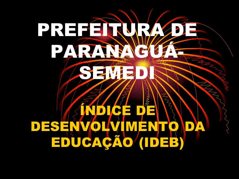 PREFEITURA DE PARANAGUÁ- SEMEDI ÍNDICE DE DESENVOLVIMENTO DA EDUCAÇÃO (IDEB)