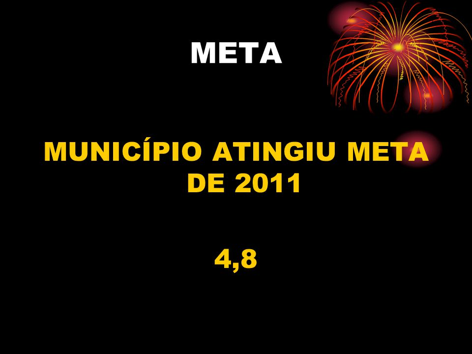 META MUNICÍPIO ATINGIU META DE 2011 4,8
