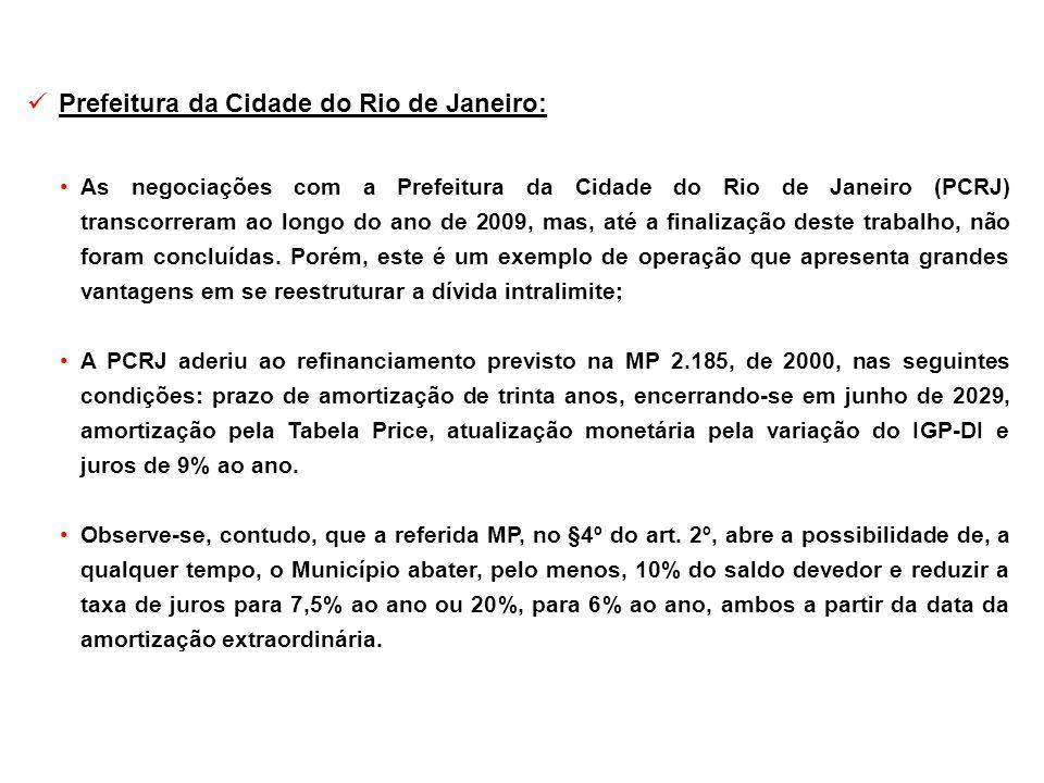 Prefeitura da Cidade do Rio de Janeiro: As negociações com a Prefeitura da Cidade do Rio de Janeiro (PCRJ) transcorreram ao longo do ano de 2009, mas,
