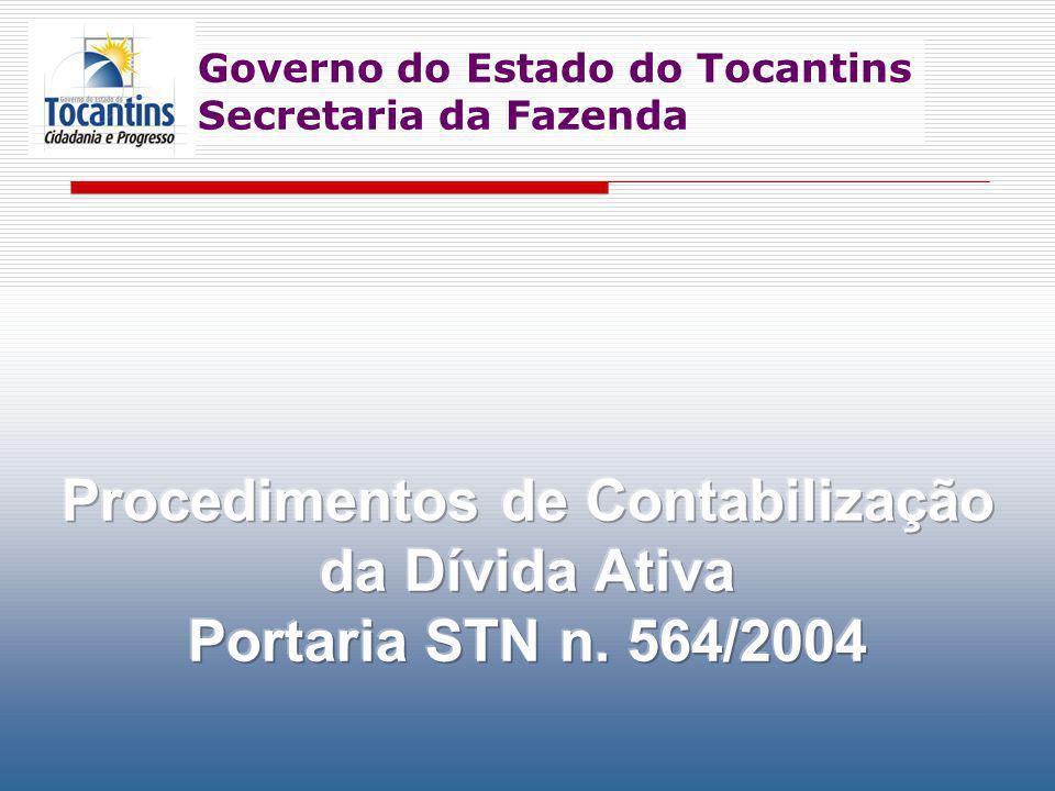 Governo do Estado do Tocantins Secretaria da Fazenda