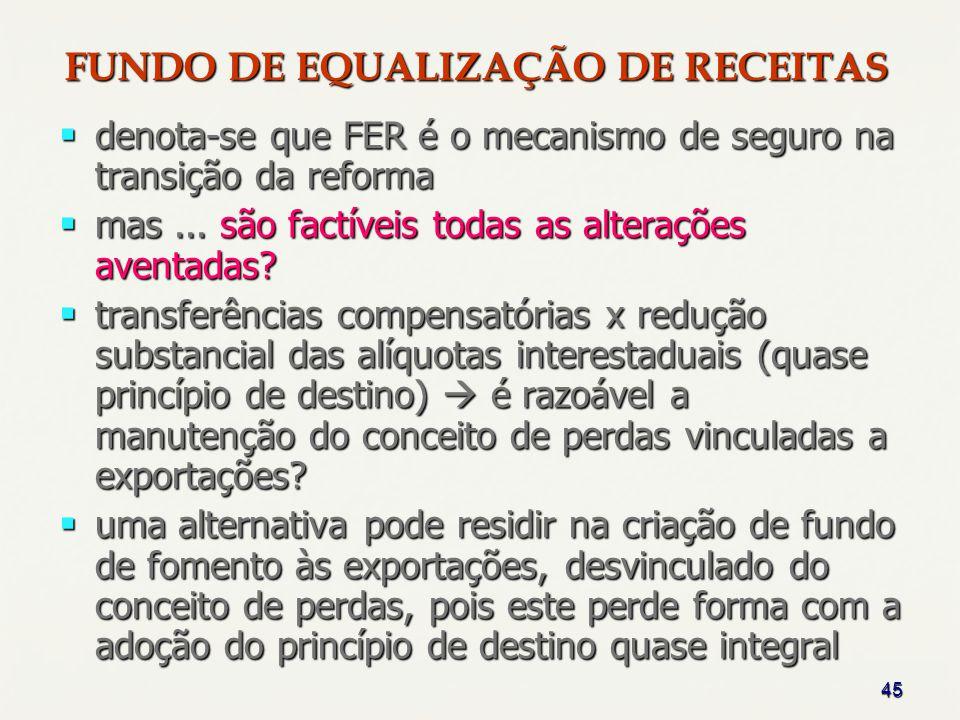 45 denota-se que FER é o mecanismo de seguro na transição da reforma denota-se que FER é o mecanismo de seguro na transição da reforma mas... são fact