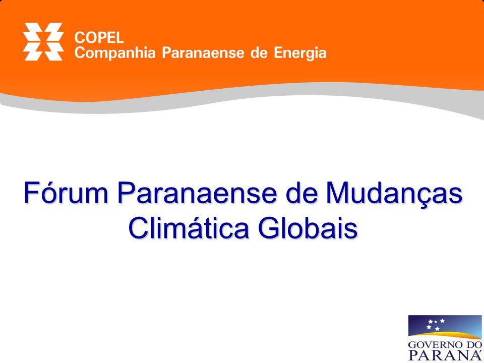 1 Fórum Paranaense de Mudanças Climática Globais