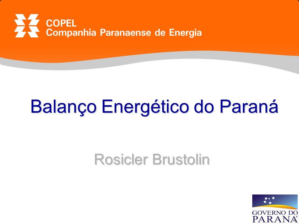 2 Balanço Energético do Paraná Rosicler Brustolin Balanço Energético do Paraná Rosicler Brustolin
