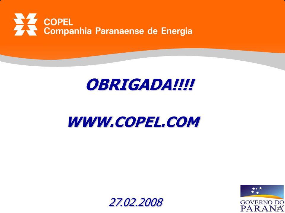 33 OBRIGADA!!!! WWW.COPEL.COM 27.02.2008 27.02.2008