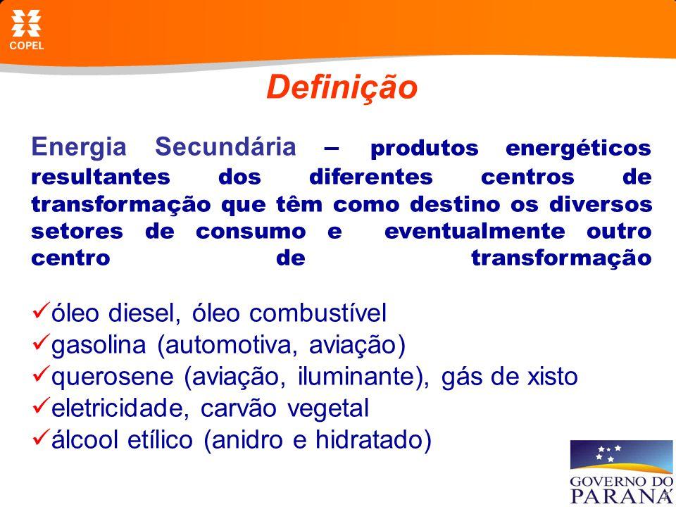 8 Definição Consumo Final – energia primária e secundária que se encontra disponível para ser utilizada por todos os setores de consumo consumo final energético consumo final não energético