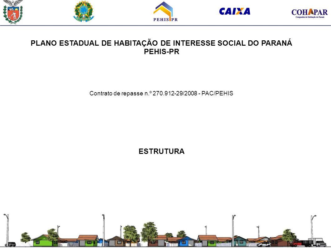 PLANO ESTADUAL DE HABITAÇÃO DE INTERESSE SOCIAL DO PARANÁ PEHIS-PR Contrato de repasse n.º 270.912-29/2008 - PAC/PEHIS ESTRUTURA