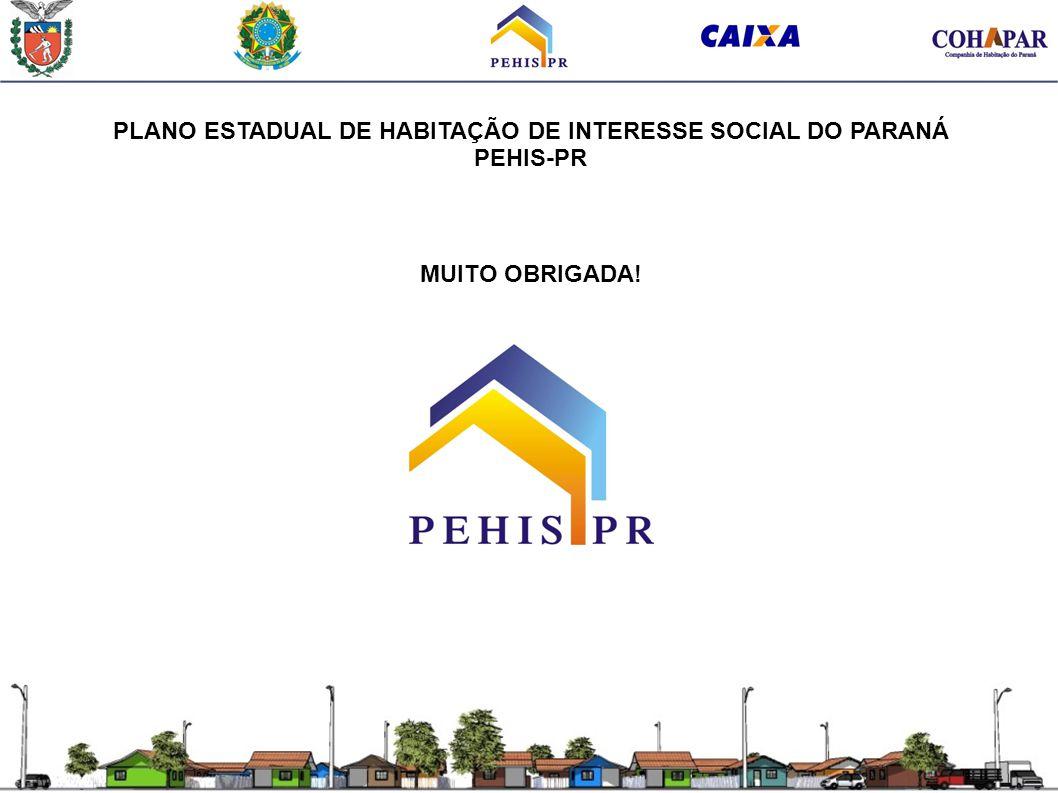 PLANO ESTADUAL DE HABITAÇÃO DE INTERESSE SOCIAL DO PARANÁ PEHIS-PR MUITO OBRIGADA!
