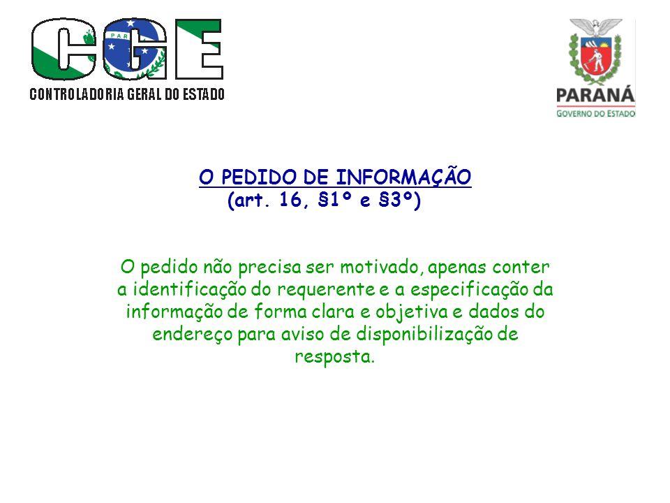 O PRAZO P/ RESPOSTA (art.