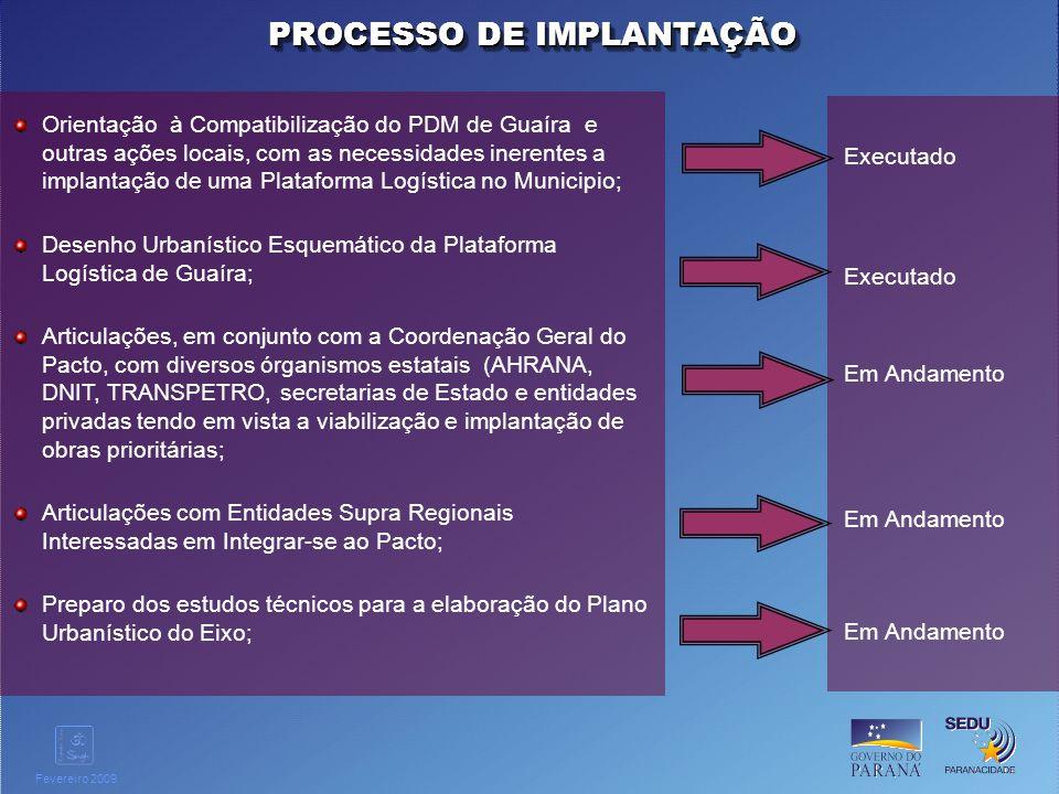 Clique para editar o estilo do título mestre Fevereiro 2009 Orientação à Compatibilização do PDM de Guaíra e outras ações locais, com as necessidades