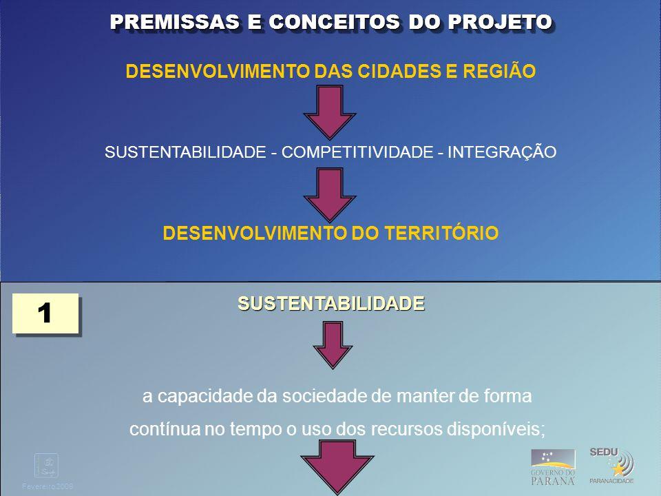 Clique para editar o estilo do título mestre Fevereiro 2009 Elaborar o Plano Diretor de Urbanístico do Eixo Definindo o Cenário Desejável para território do Eixo; Adequando o planejamento do territórios municipais.