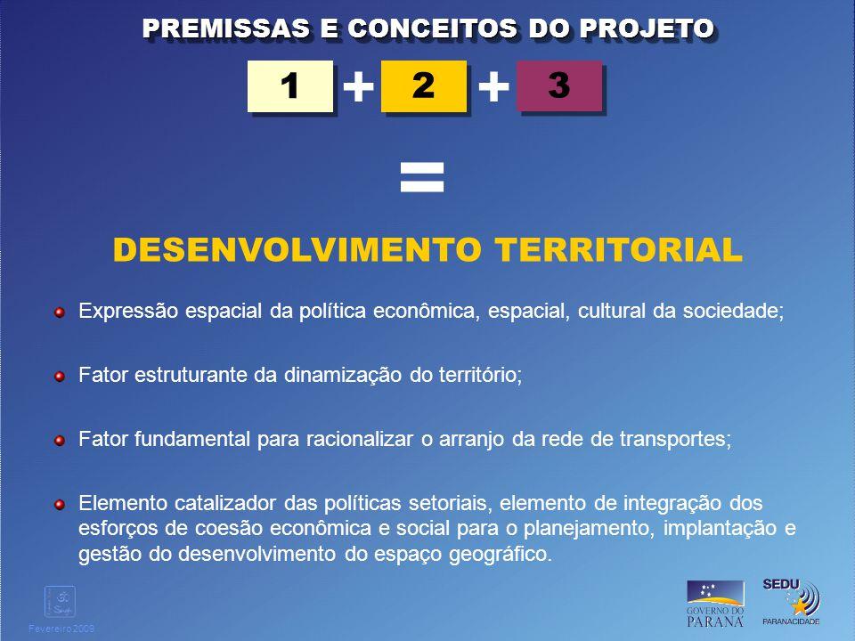 Clique para editar o estilo do título mestre Fevereiro 2009 Conceber e submeter a aprovação pelo Governo do Estado a proposta de Estratégia para o Desenvolvimento da Rede de Acessibilidade e Logística Estadual; Definir Diretrizes de Desenvolvimento do Eixo Cascavel - Guaíra; Organizar o sistema de gestão integrada e compartilhada para o desenvolvimento do EIXO; Elaborar uma Agenda Estratégica de Projetos Prioritários; Articular com os organismos responsáveis a definição e/ou priorização de obras dos diferentes modais; Elaborar o Plano Urbanístico do Eixo.