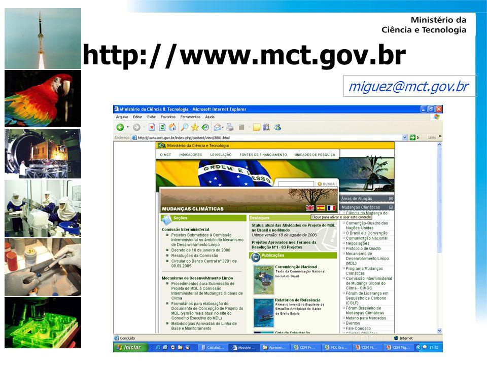 miguez@mct.gov.br http://www.mct.gov.br