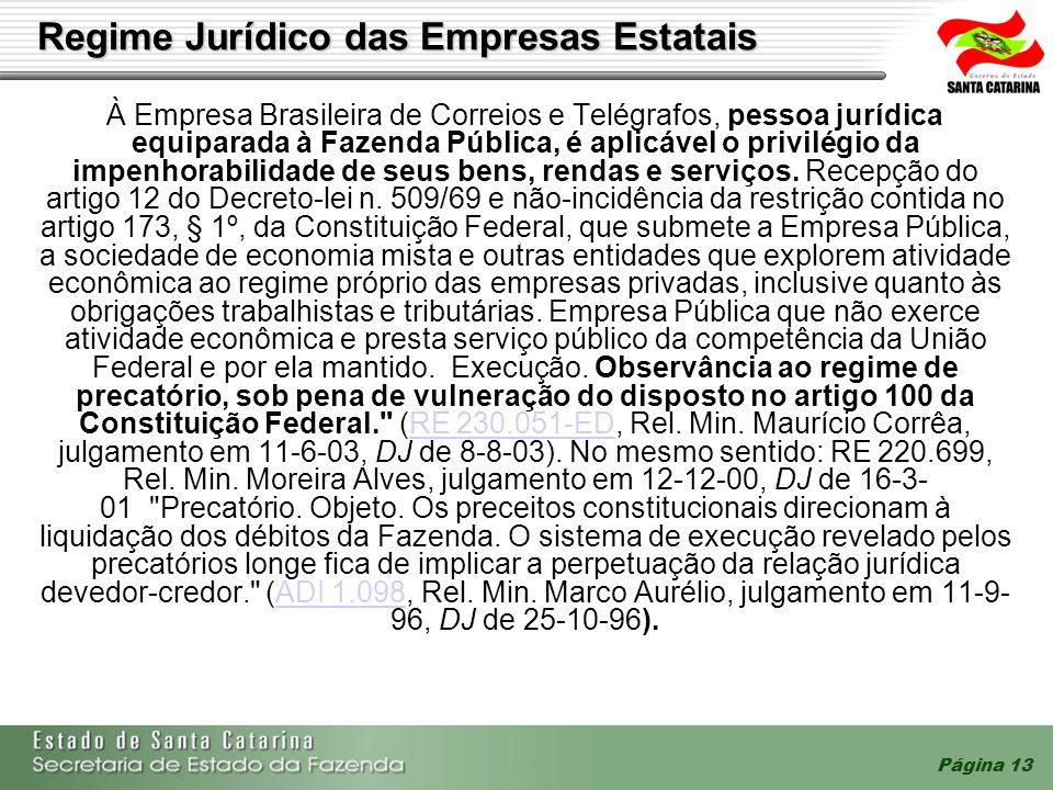 Página 13 À Empresa Brasileira de Correios e Telégrafos, pessoa jurídica equiparada à Fazenda Pública, é aplicável o privilégio da impenhorabilidade d