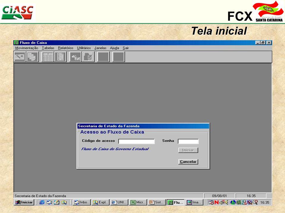 FCX Tela inicial