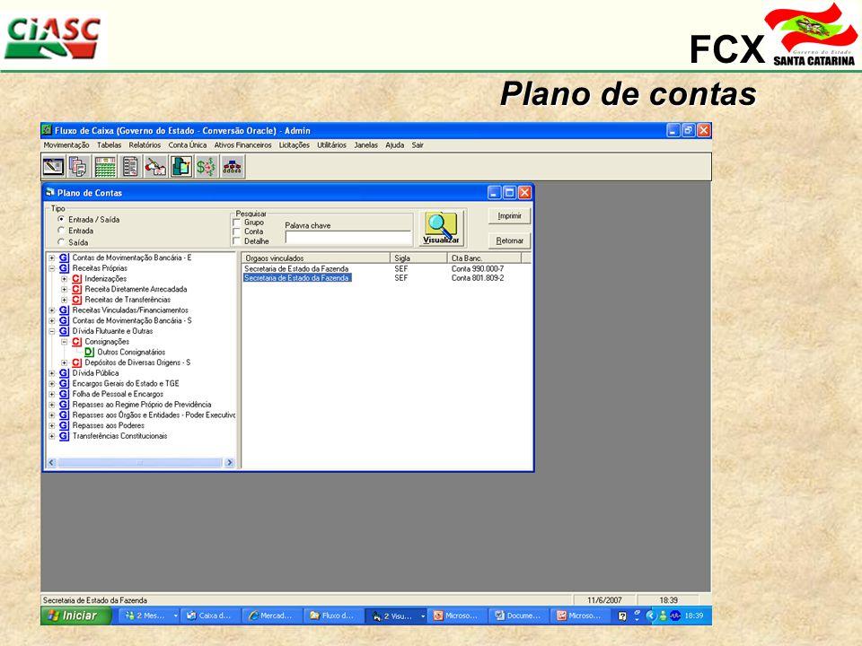 FCX Plano de contas