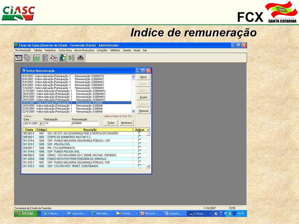 FCX Indice de remuneração