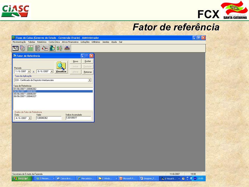 FCX Fator de referência