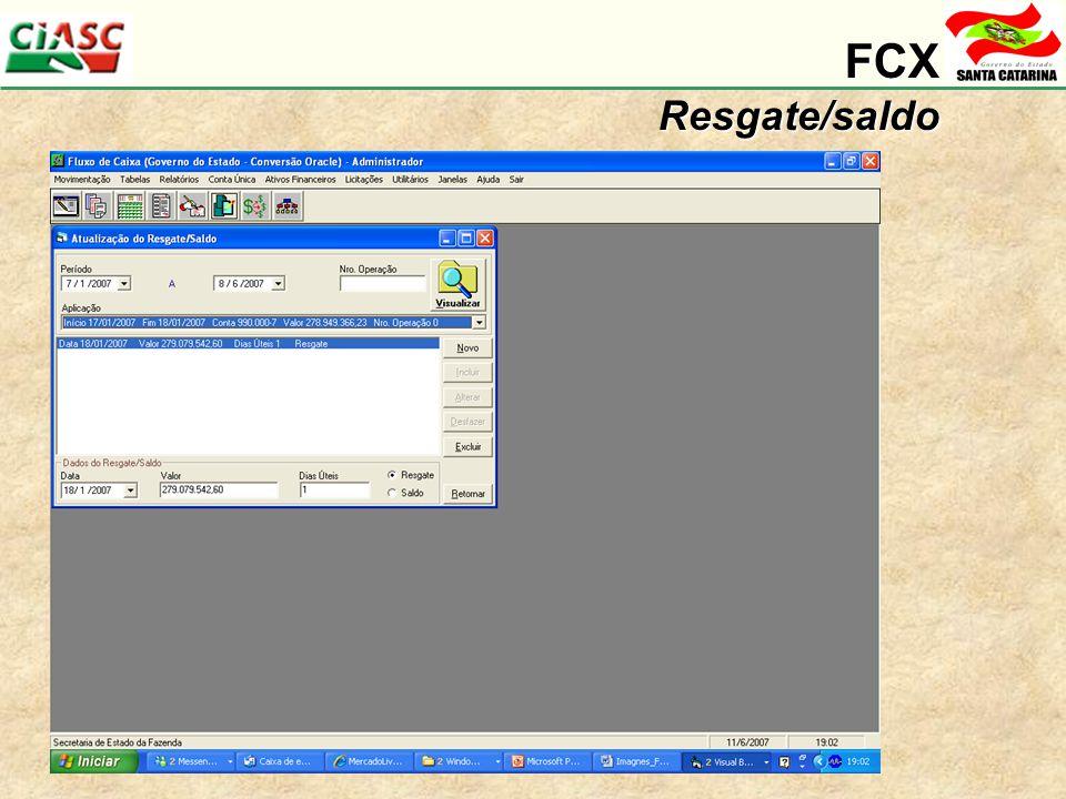 FCXResgate/saldo