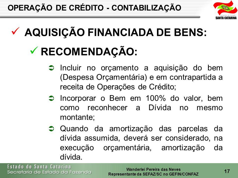 Wanderlei Pereira das Neves Representante da SEFAZ/SC no GEFIN/CONFAZ 18 GT – RECEITAS NÃO TRIBUTÁRIAS MANUAL DO IRRF RJ - GEFIN 2008: