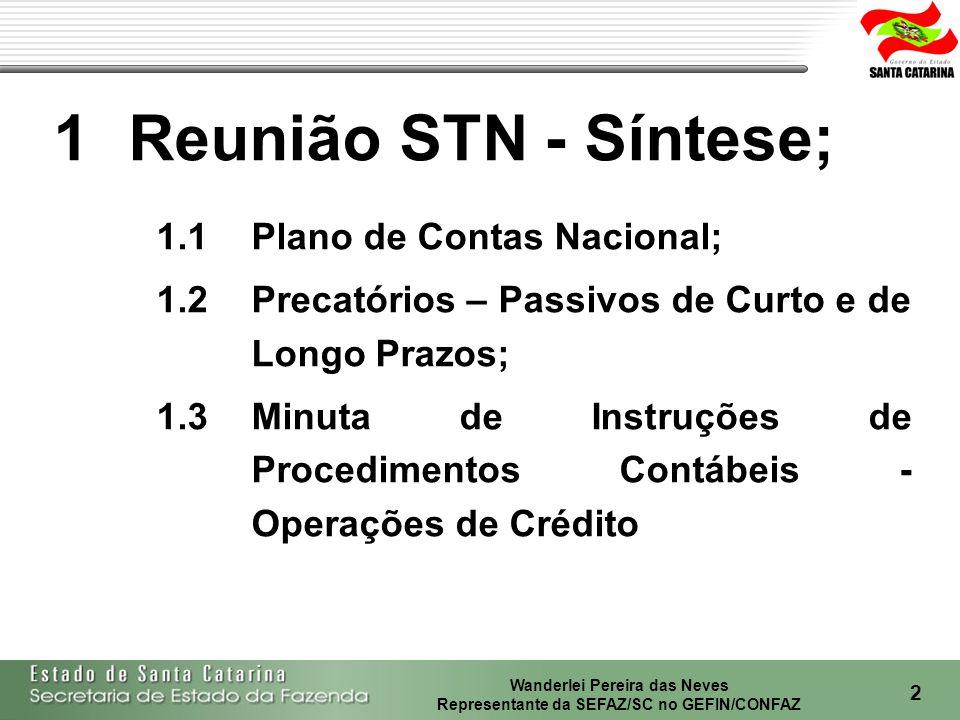 Wanderlei Pereira das Neves Representante da SEFAZ/SC no GEFIN/CONFAZ 3 INTERPRETAÇÃO DA CODIFICAÇÃO CONTÁBIL: XXXX 3º NÍVEL - Subgrupo 4º NÍVEL - Elemento 5º NÍVEL - Subelemento 6º NÍVEL - Item 7º NÍVEL - Subitem..