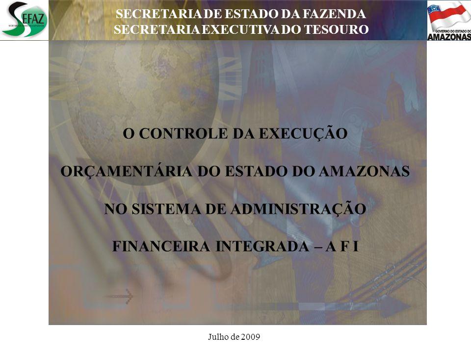 SECRETARIA DE ESTADO DA FAZENDA SECRETARIA EXECUTIVA DO TESOURO SECRETARIA DE ESTADO DA FAZENDA SECRETARIA EXECUTIVA DO TESOURO DEPARTAMENTO DE CONTABILIDADE PÚBLICA Administração Financeira Integrada - AFI O AFI é uma moderna ferramenta de trabalho, com processos informatizados na gestão dos recursos públicos, fornecendo a Administração Estadual informações gerencias de planejamento, tomada de decisão e controle operacional, atendendo a Lei 4320/64.