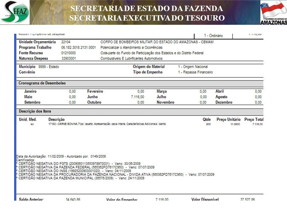 SECRETARIA DE ESTADO DA FAZENDA SECRETARIA EXECUTIVA DO TESOURO DEPARTAMENTO DE CONTABILIDADE PÚBLICA Edson Theóphilo Ramos Pará Secretário Executivo do Tesouro - SET Email: epara@sefaz.am.gov.brepara@sefaz.am.gov.br Tel(92) 2121-1641 Valdênia dos Santos Martins de Pinho Assessora da Secretaria Executiva do Tesouro E-mail: vpinho@sefaz.am.gov.brvpinho@sefaz.am.gov.br Tel: (92) 2121-1626 Maria da Conceição Guerreiro da Silva Diretora do Departamento de Contabilidade Pública E-mail: msouza@sefaz.am.gov.brmsouza@sefaz.am.gov.br Tel: (92) 2121-1708 Maria do Socorro da Silva Lima Diretora do Departamento de Dívida e Haveres E-mail: mslima@sefaz.am.gov.brmslima@sefaz.am.gov.br Tel: (92) 2121-1756 Francisco Arnóbio Bezerra Mota Diretor do Departamento Financeiro E-mail: farnobio@sefaz.am.gov.brfarnobio@sefaz.am.gov.br Tel(92) 2121-1623 SECRETARIA DE ESTADO DA FAZENDA SECRETARIA EXECUTIVA DO TESOURO