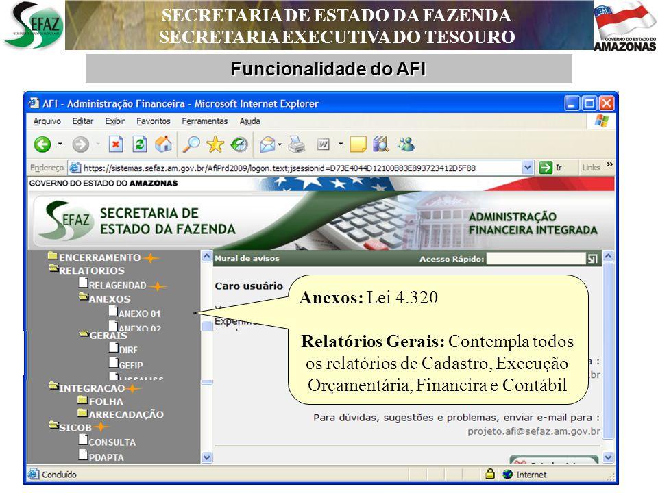 SECRETARIA DE ESTADO DA FAZENDA SECRETARIA EXECUTIVA DO TESOURO Funcionalidade do AFI Geração de Folha de Pagamento