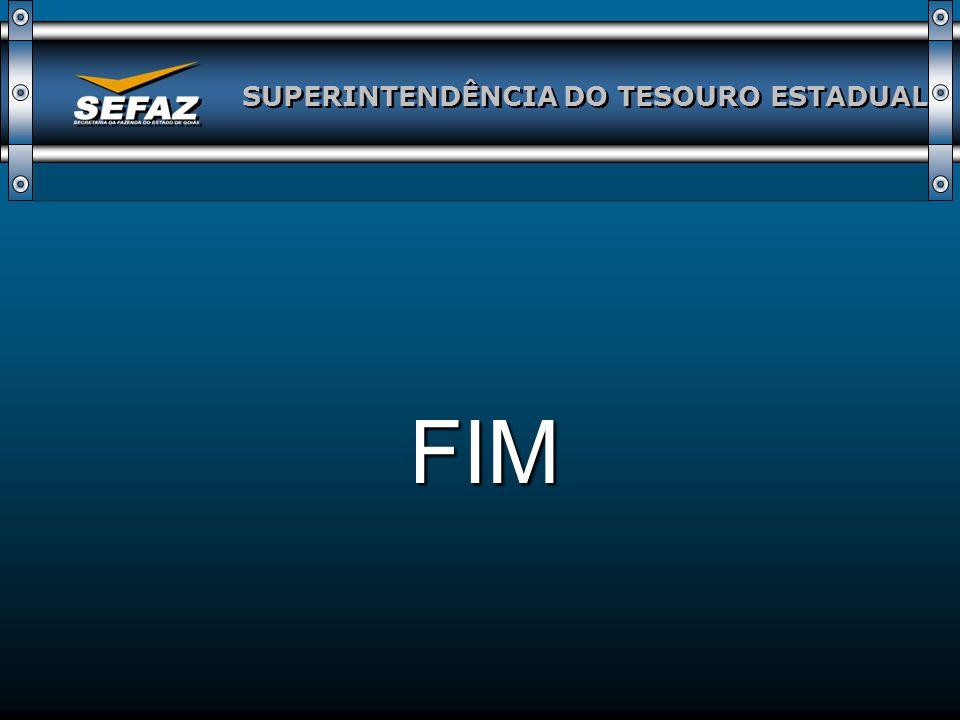 SUPERINTENDÊNCIA DO TESOURO ESTADUAL FIM
