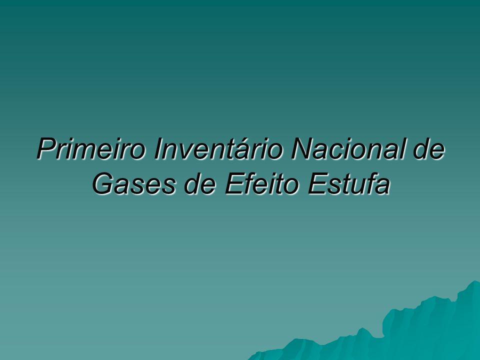 Primeiro Inventário Nacional de Gases de Efeito Estufa