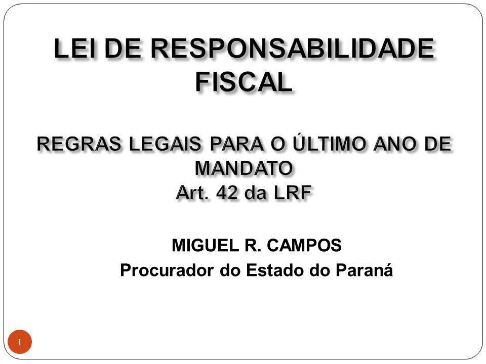 A Lei de Responsabilidade Fiscal, Lei Complementar Federal nº 101, de 04/05/2000, regulamenta os artigos 163 e 169 da Constituição Federal e objetiva ditar normas de finanças públicas voltadas para gestão fiscal responsável.
