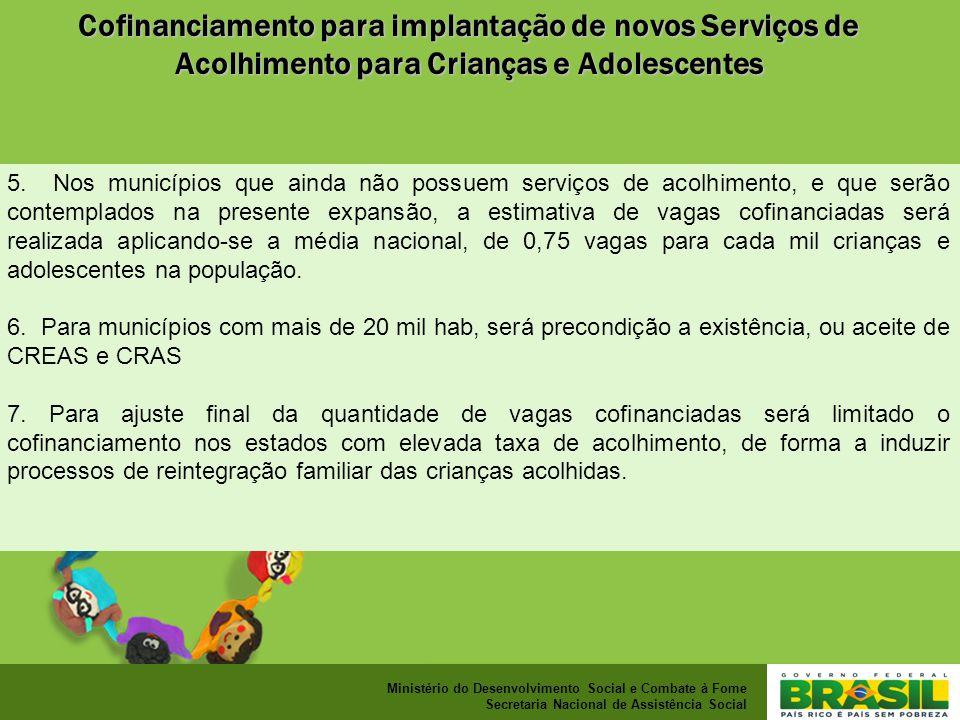 Ministério do Desenvolvimento Social e Combate à Fome Secretaria Nacional de Assistência Social 5.