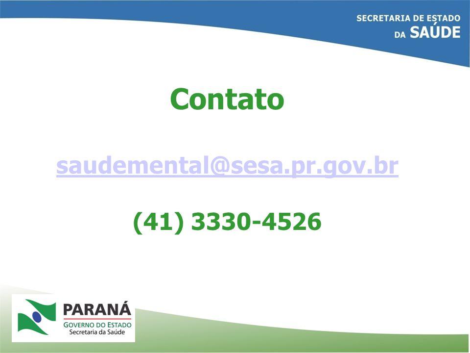 Contato saudemental@sesa.pr.gov.br (41) 3330-4526