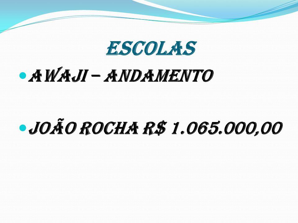 ESCOLAS Awaji – andamento João Rocha R$ 1.065.000,00