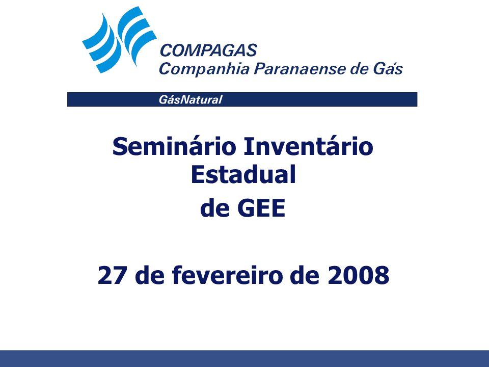 Seminário Inventário Estadual de GEE 27 de fevereiro de 2008