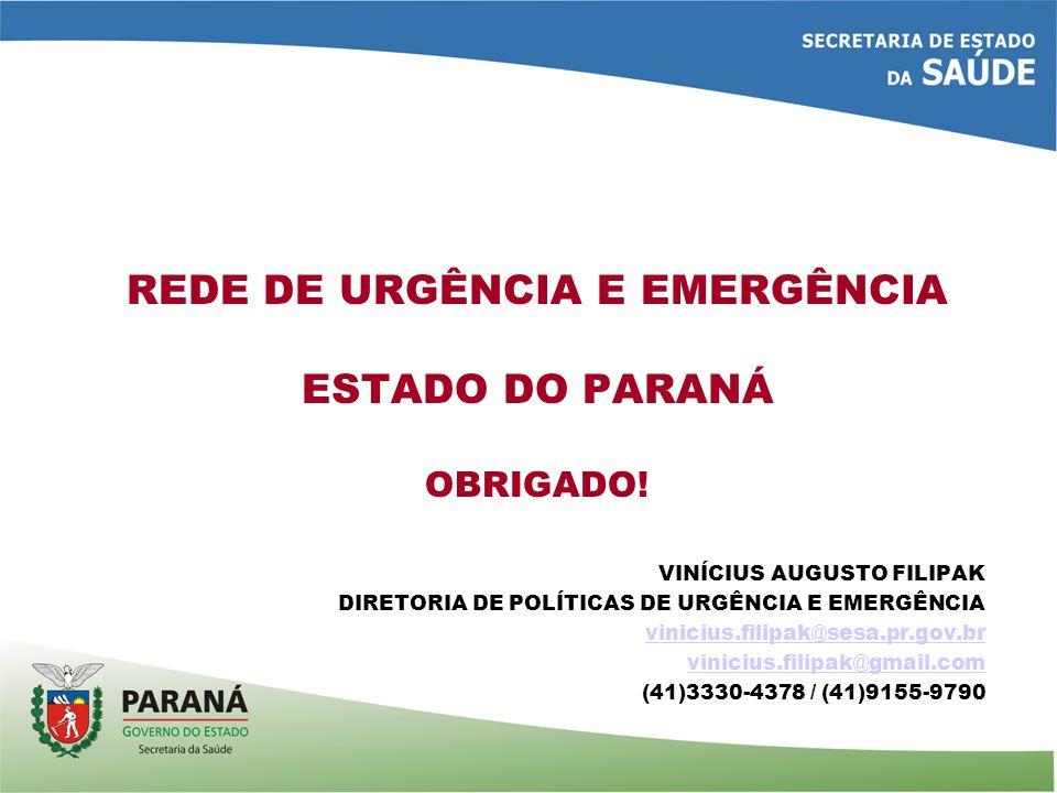 REDE DE URGÊNCIA E EMERGÊNCIA ESTADO DO PARANÁ OBRIGADO.