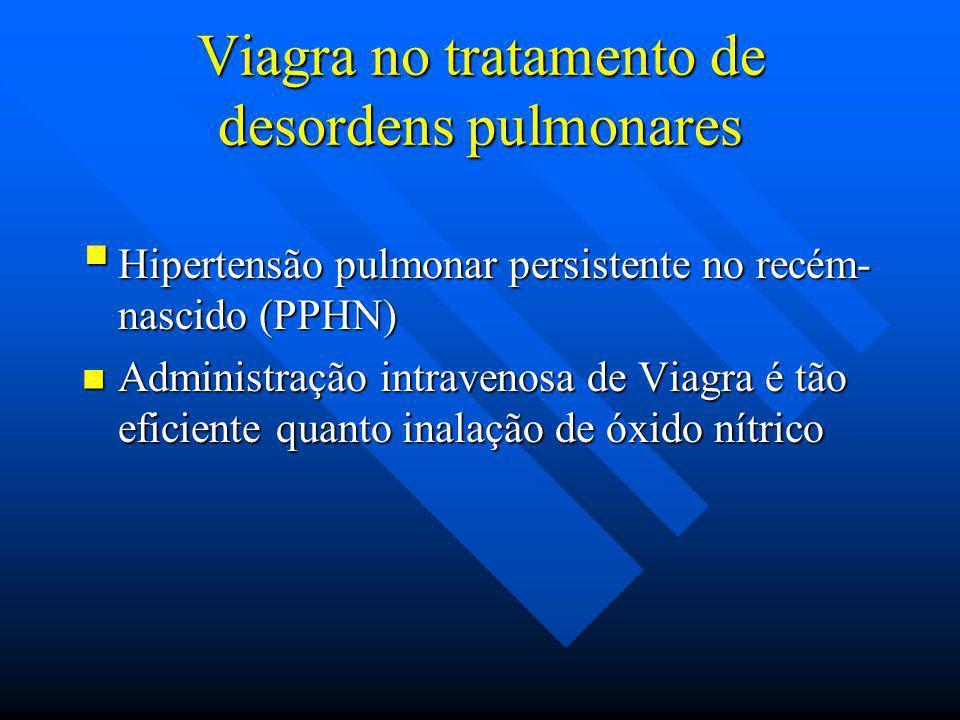 Viagra no tratamento de desordens pulmonares Hipertensão pulmonar persistente no recém- nascido (PPHN) Hipertensão pulmonar persistente no recém- nasc