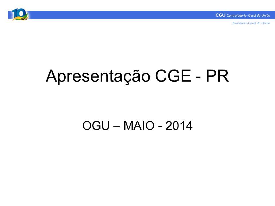 Apresentação CGE - PR OGU – MAIO - 2014