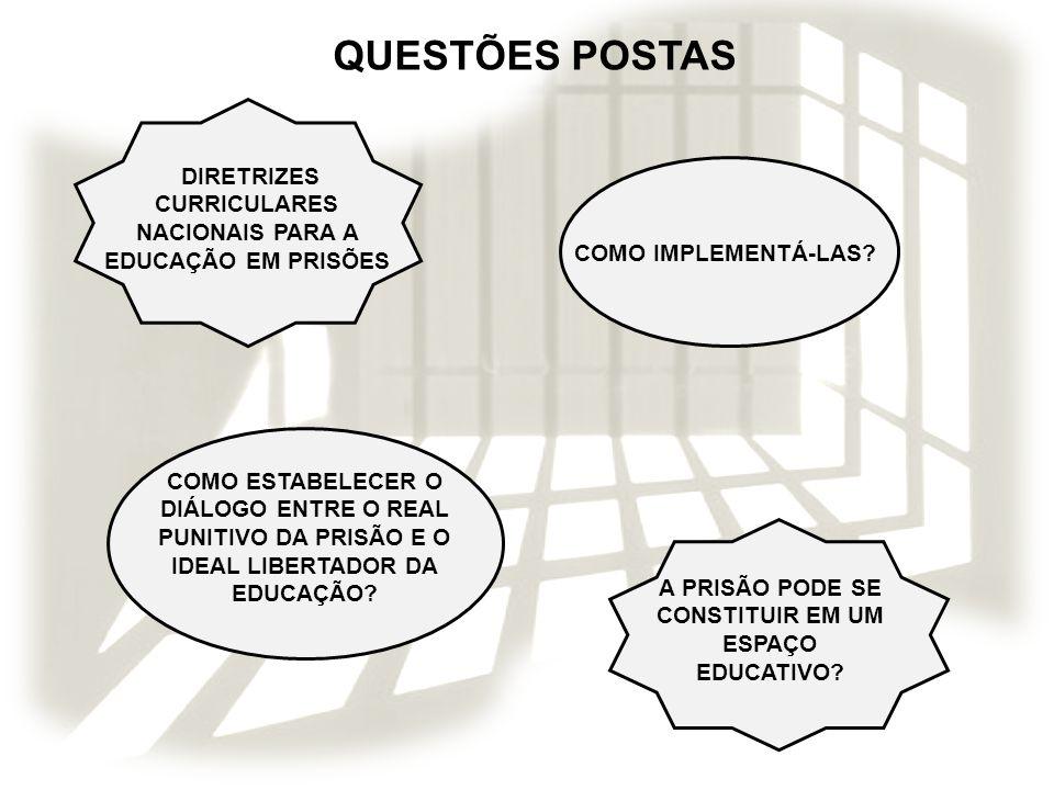 A PRISÃO COMO ESPAÇO EDUCATIVO O QUE É PRECISO SABER PARA SER EDUCADOR EM ESPAÇO COM PRIVAÇÃO DE LIBERDADE.