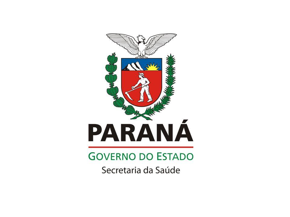 Plano Diretor de APS no Paraná Mapa Estratégico PROCESSOS: –Qualificação das equipes de APS por meio da Educação Permanente –Investimentos em infraestrutura com a reforma, ampliação e/ou construção de Unidades de Atenção Primária –Investimentos em custeio das equipes de APS visando redução de iniqüidades regionais, e com critérios de desempenho –Implementar APS para implantação das Redes de Atenção a Saúde: Mãe Paranaense, Urgência e Emergência, Pessoa com Deficiência, Saúde Mental e Pessoa Idosa.